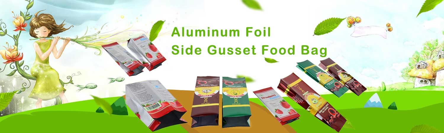 Aluminum Foil Side Gusset Food Bag